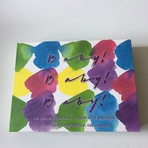 """Driftwood Designs """"Baby"""" Themed Notecards - 16 Pcs"""